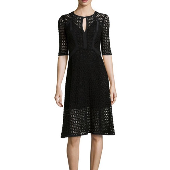 Nanette Lepore Dresses & Skirts - Nanette Lepore Black crochet drumbeat dress